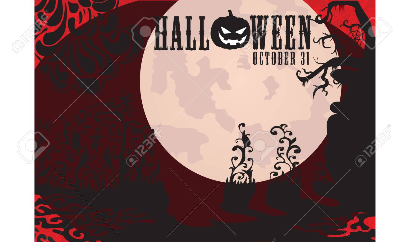 Best halloween night party invitation vector background royalty free best halloween night party invitation vector background stock vector 63446177 stopboris Image collections