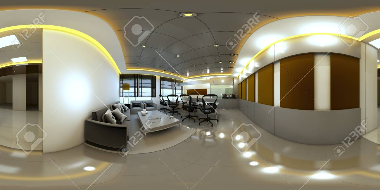 3d illustration spherical 360 vr degrees a seamless panorama