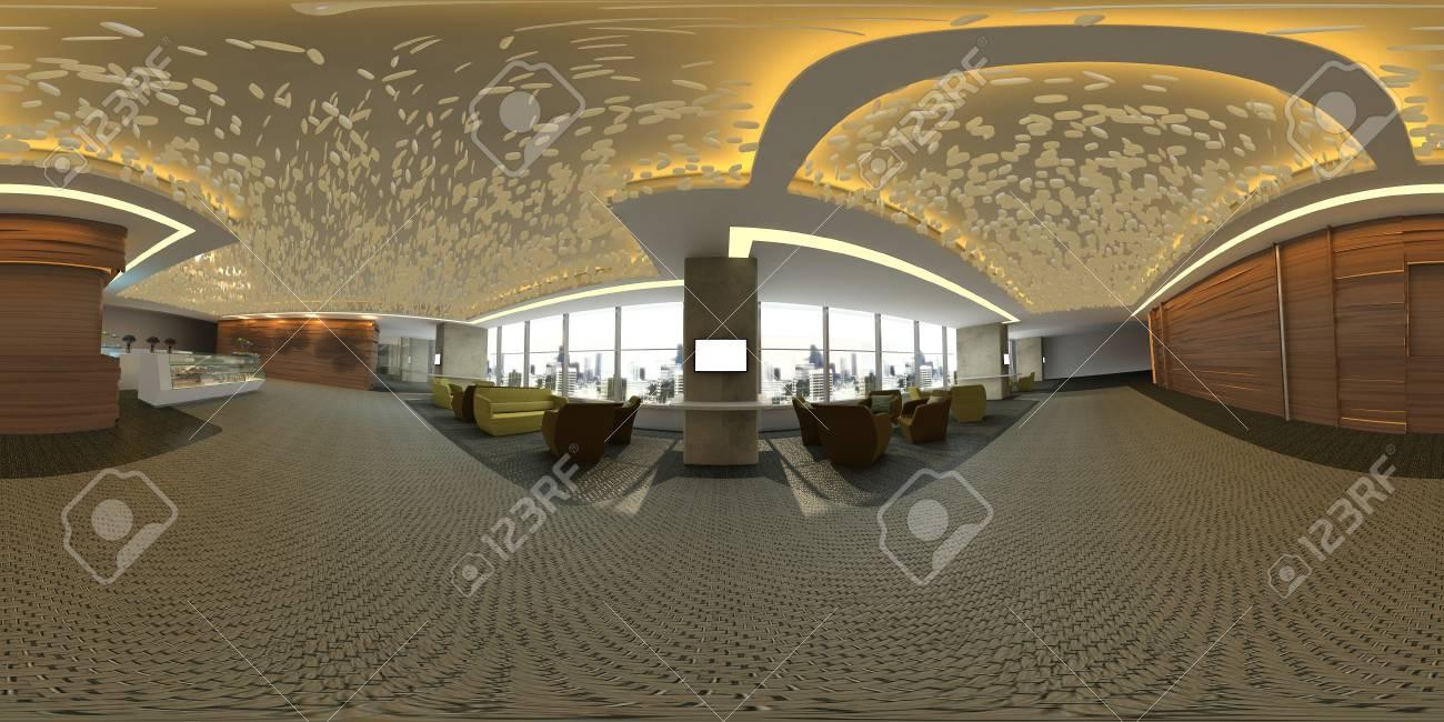 3D Illustration Sphérique 360 ??degrés Vr, Un Panorama Sans Soudure ...