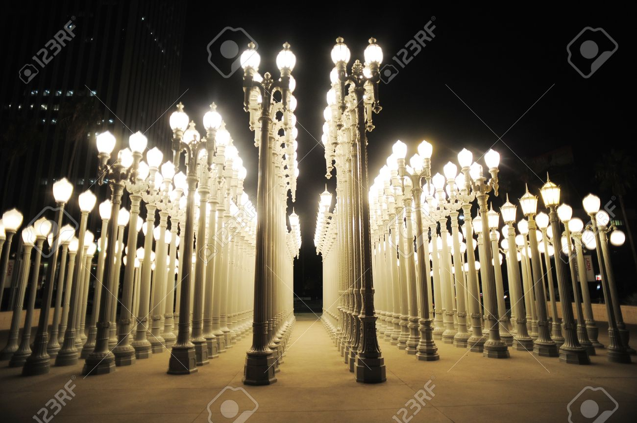Stock Photo - urban light at los angeles museum of art & Urban Light At Los Angeles Museum Of Art Stock Photo Picture And ...