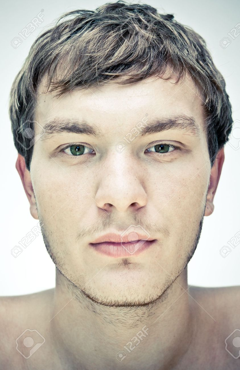 male face  on a white background Stock Photo - 11187144