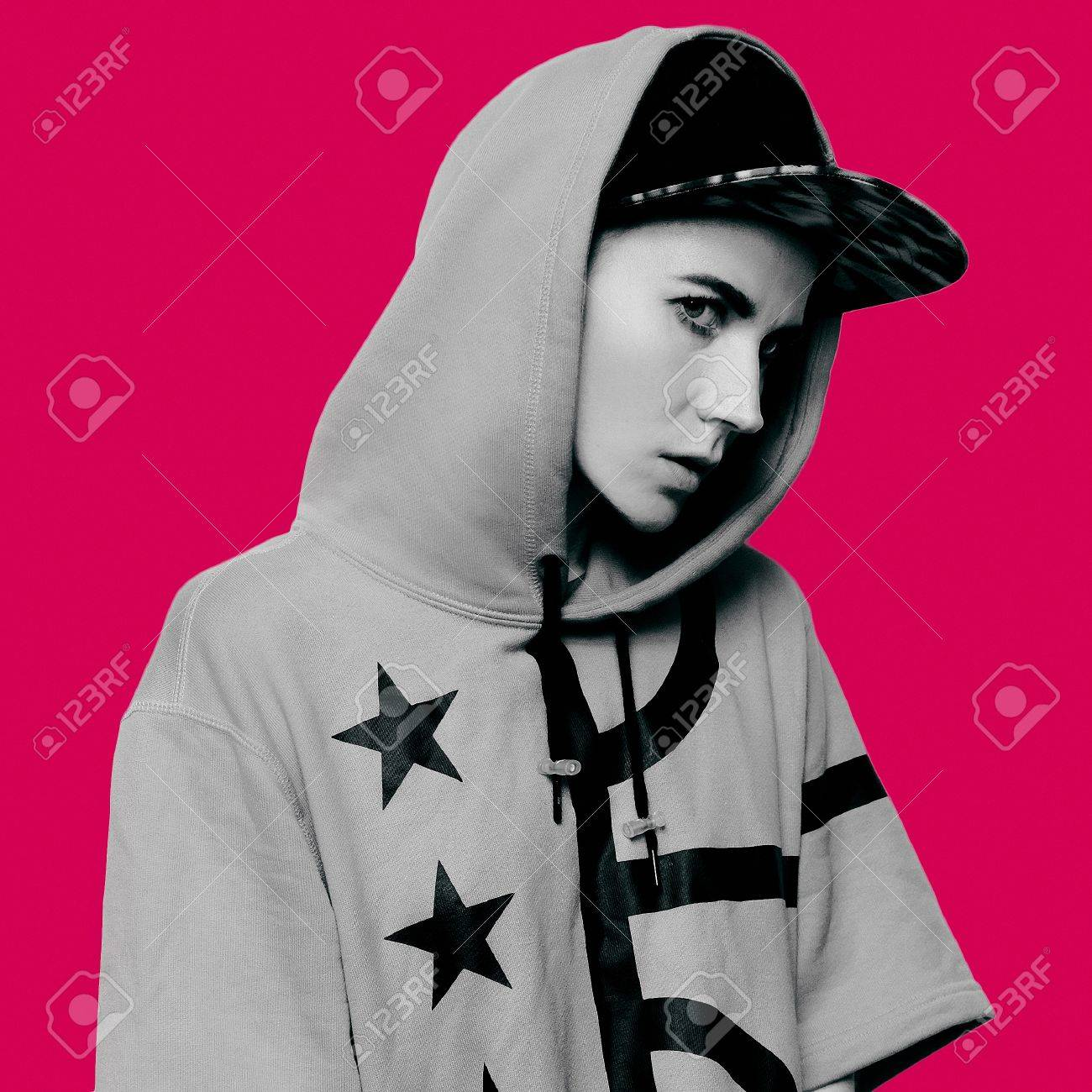 Hip Hop Girl Tomboy Cap And Stylish Clothes Urban Style Swag