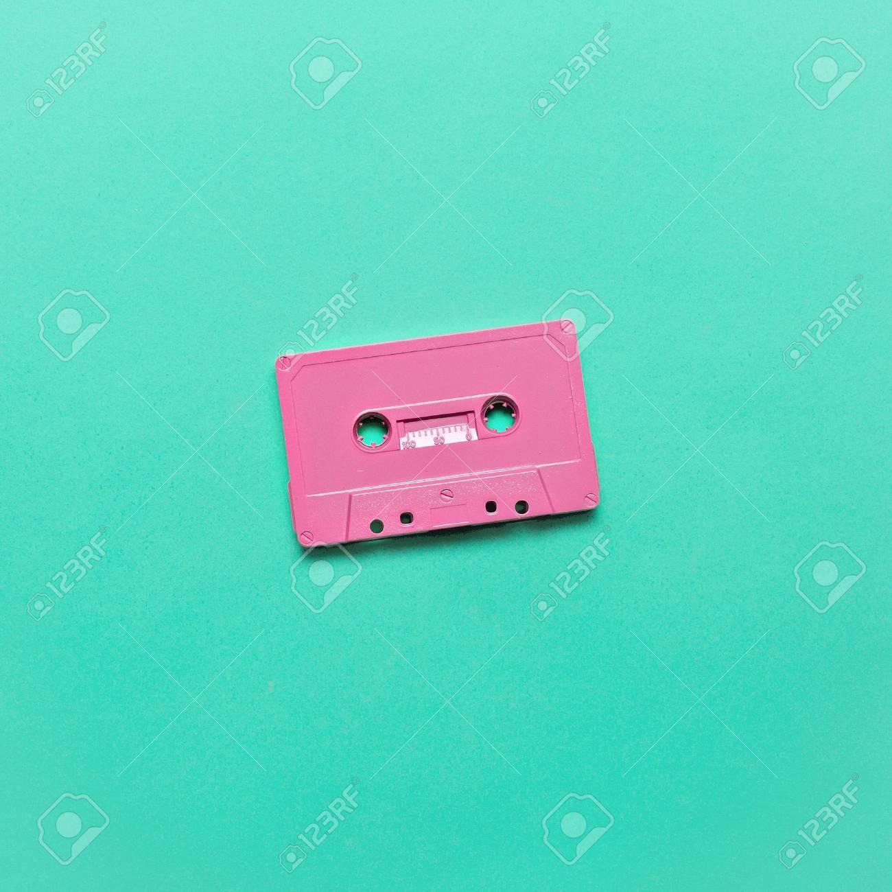 Audio cassette. Retro vibes Minimal art - 77223867