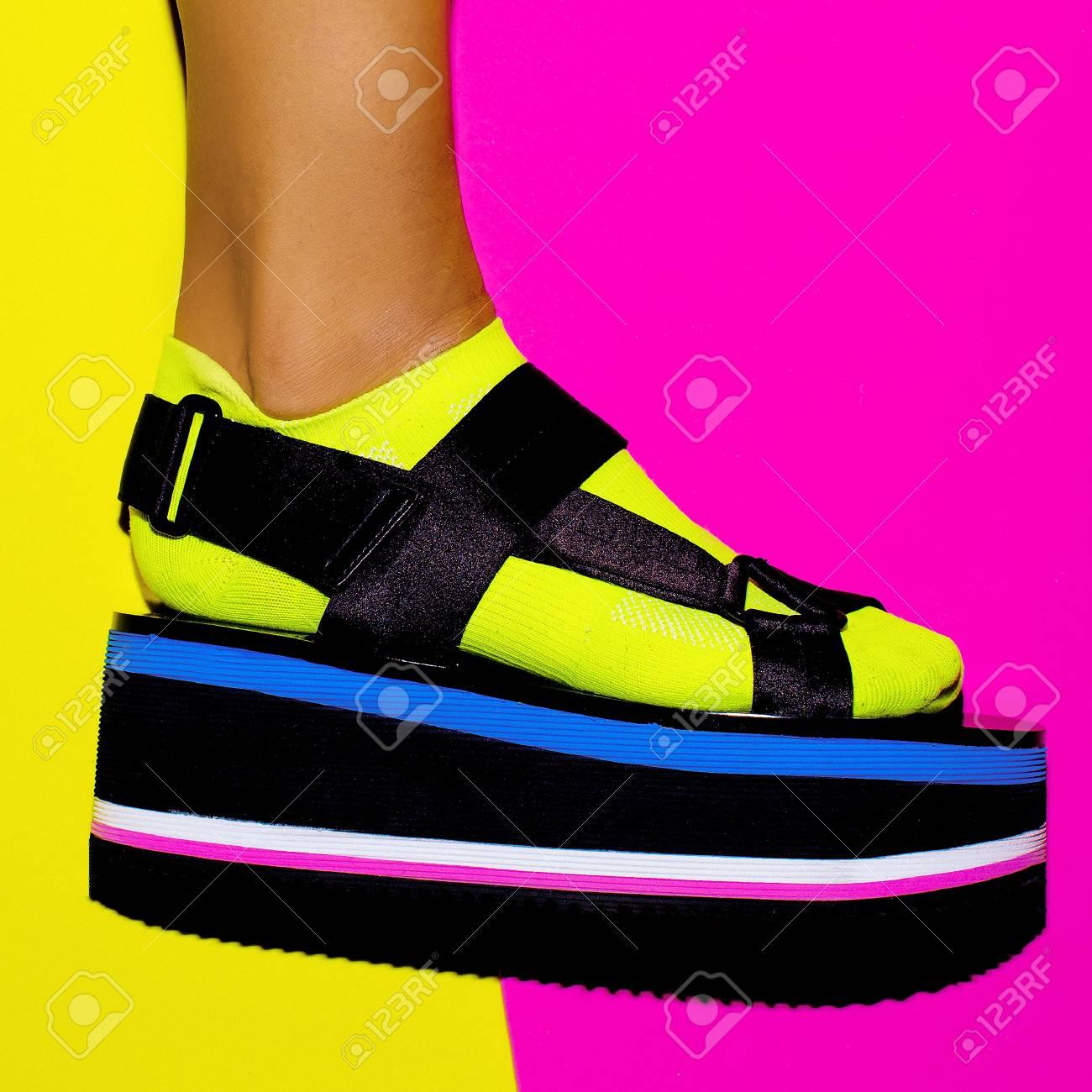 Platform Trend. Stylish Shoes For Girls