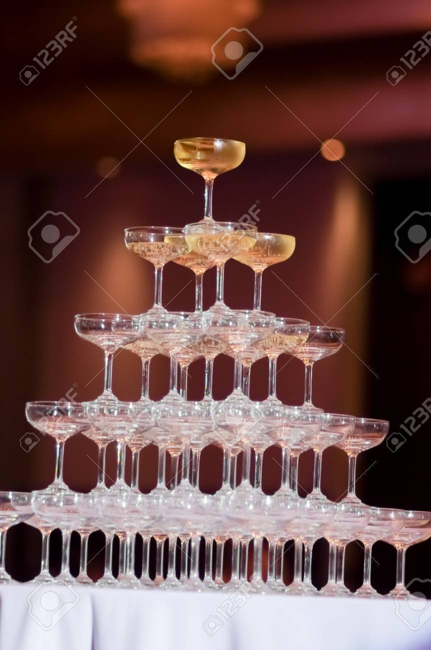 Champagne Tower Stock Photo, Picture And Royalty Free Image. Image ...