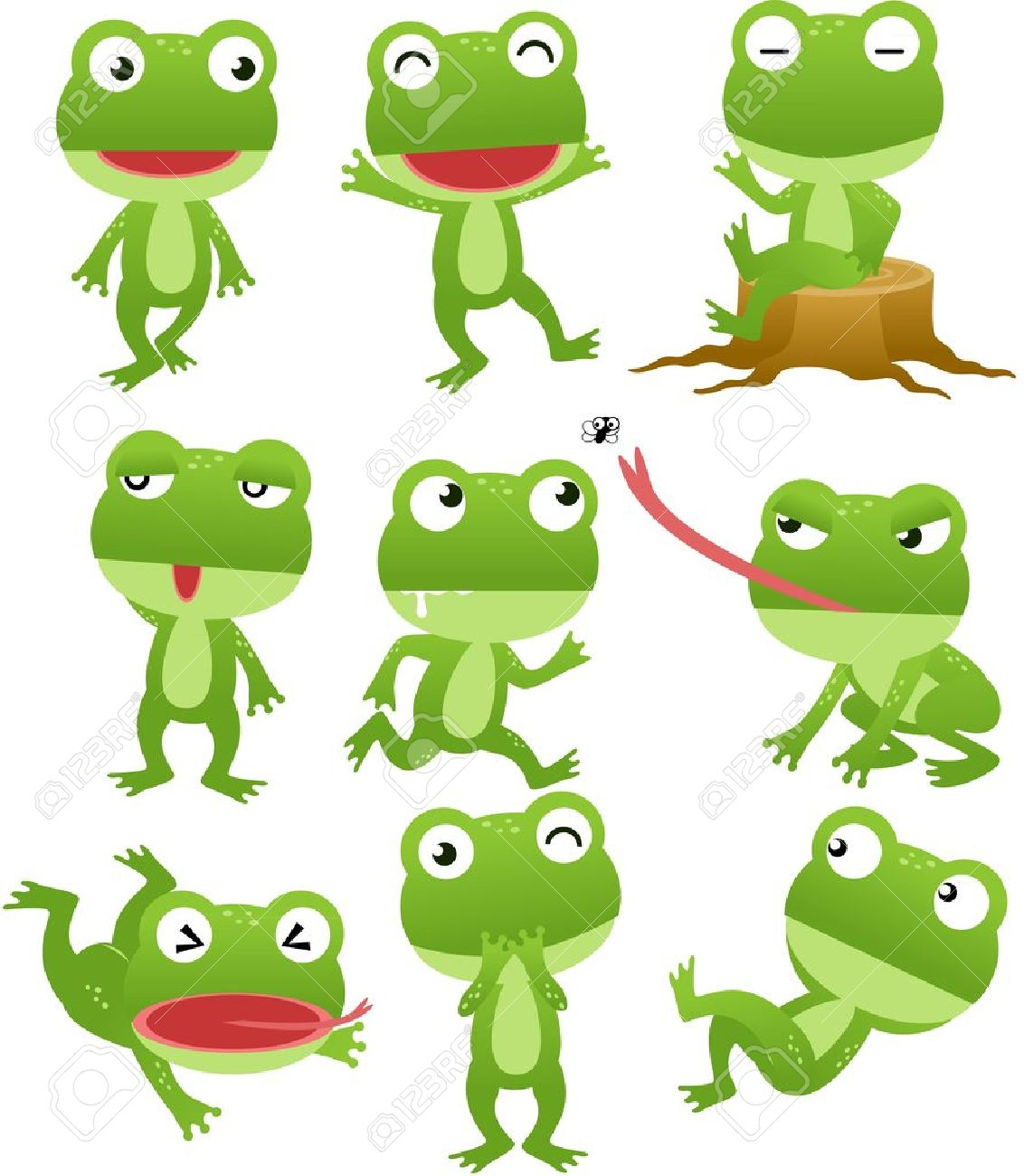 Funny frog cartoon collection Stock Vector - 14881544