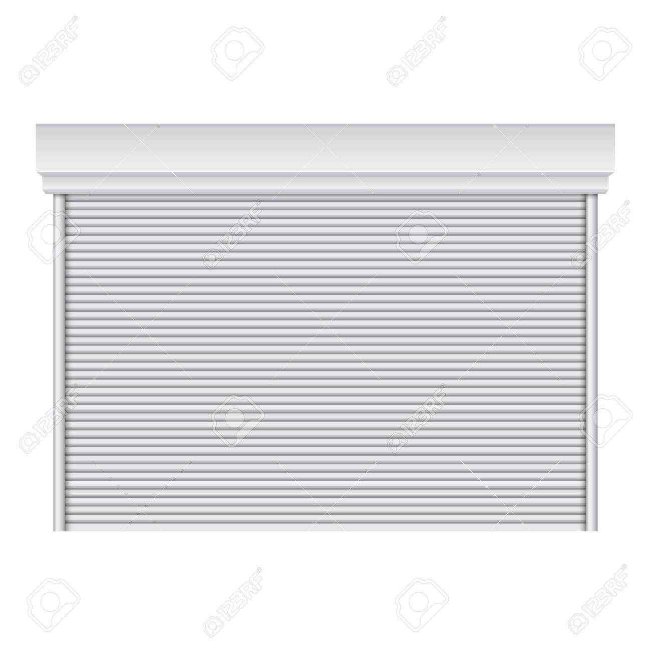 Realistic roll up door vector on isolated white background Stock Vector - 24027756
