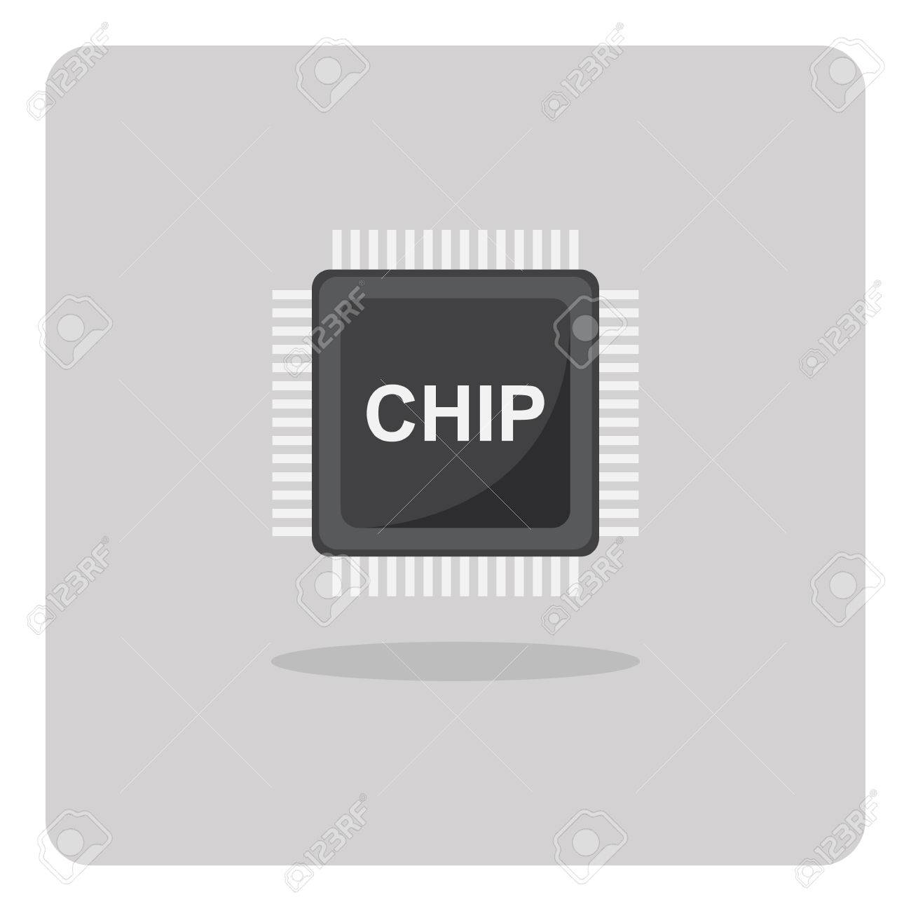 Firewire symbol dolgular vector of flat icon chip for printed circuit board on isolated buycottarizona