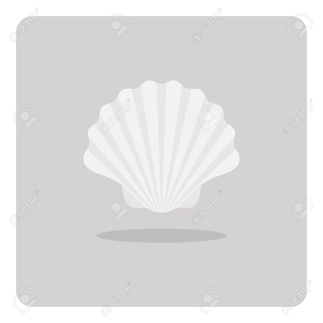 Vector of flat icon scallop shell on isolated background royalty vector of flat icon scallop shell on isolated background stock vector 74094530 biocorpaavc Image collections