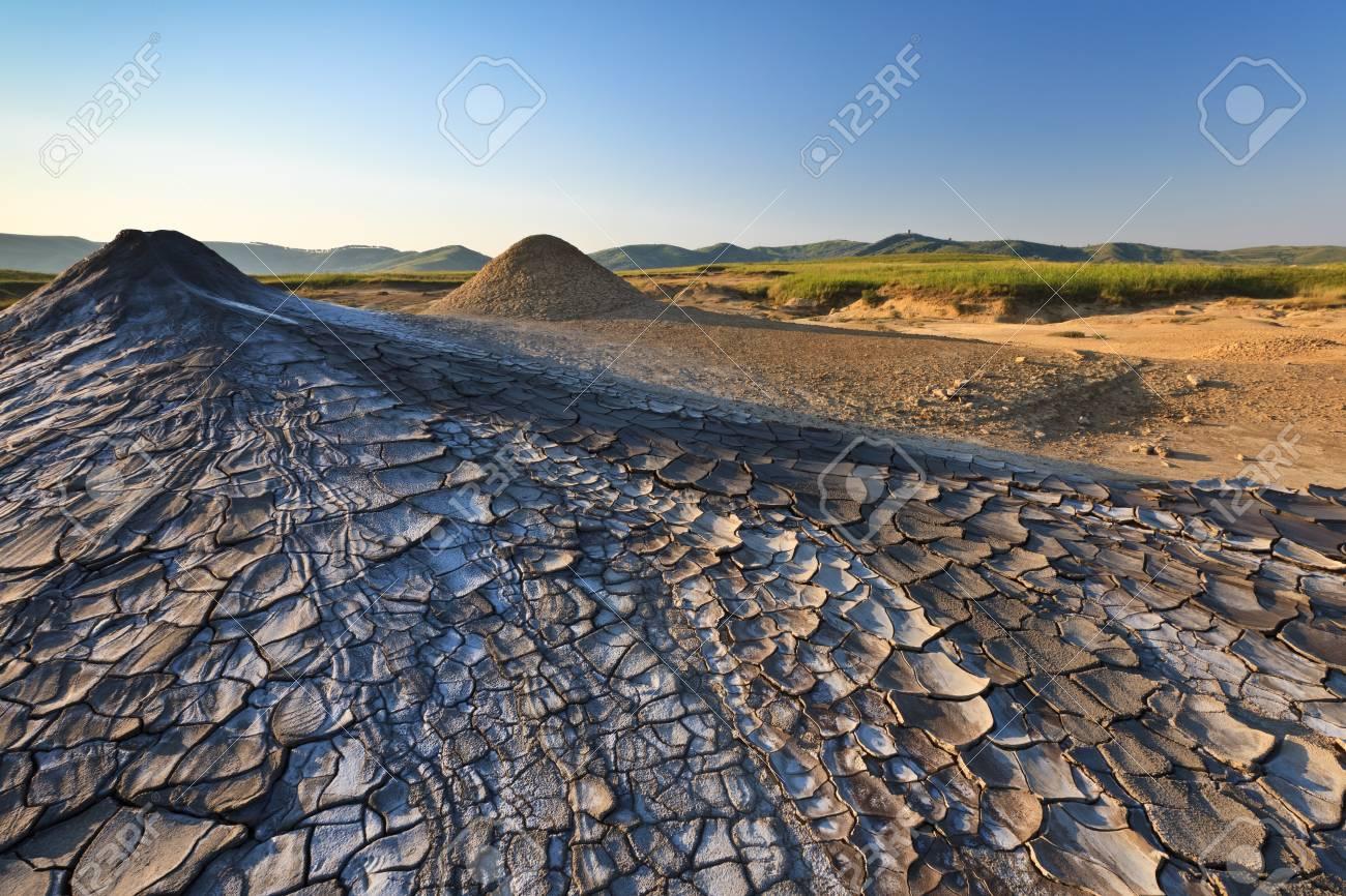 Strange landscape produced bu active mud volcanoes Stock Photo - 10264457