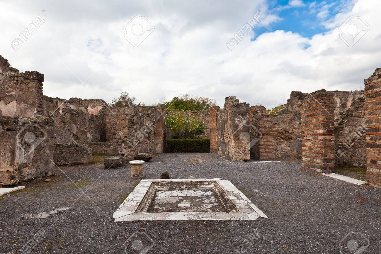 City Pompeii Which Was Destroyed And Buried During The Eruption
