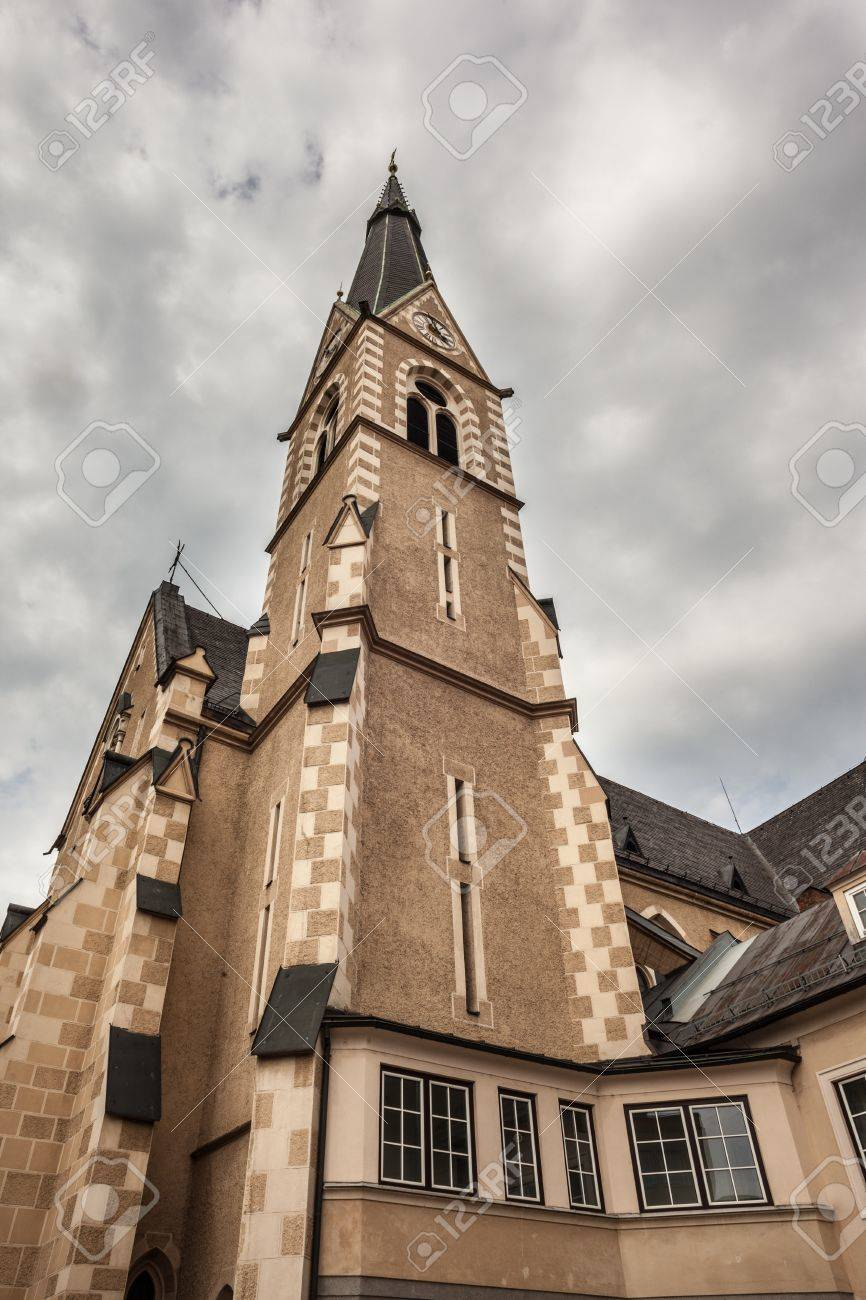exterior view of a church located in Villach, a city in the south of Austria Stock Photo - 19413925