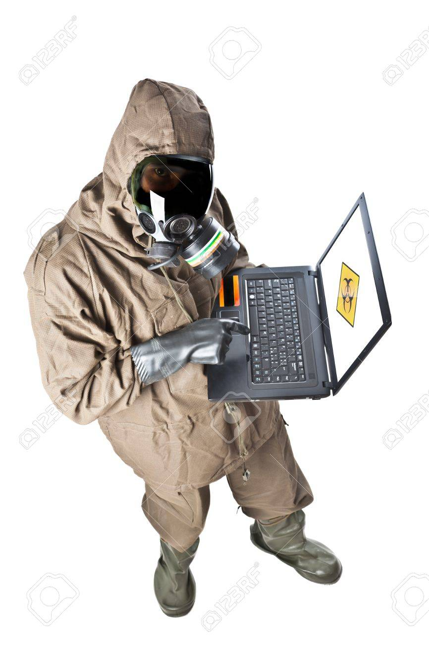 A man wearing an NBC Suite (Nuclear - Biological - Chemical) Stock Photo - 19563663
