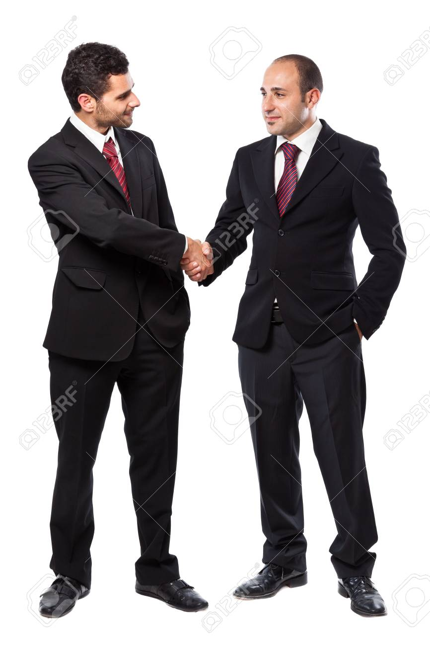 Two Businessman standing on a white background Stock Photo - 20327068