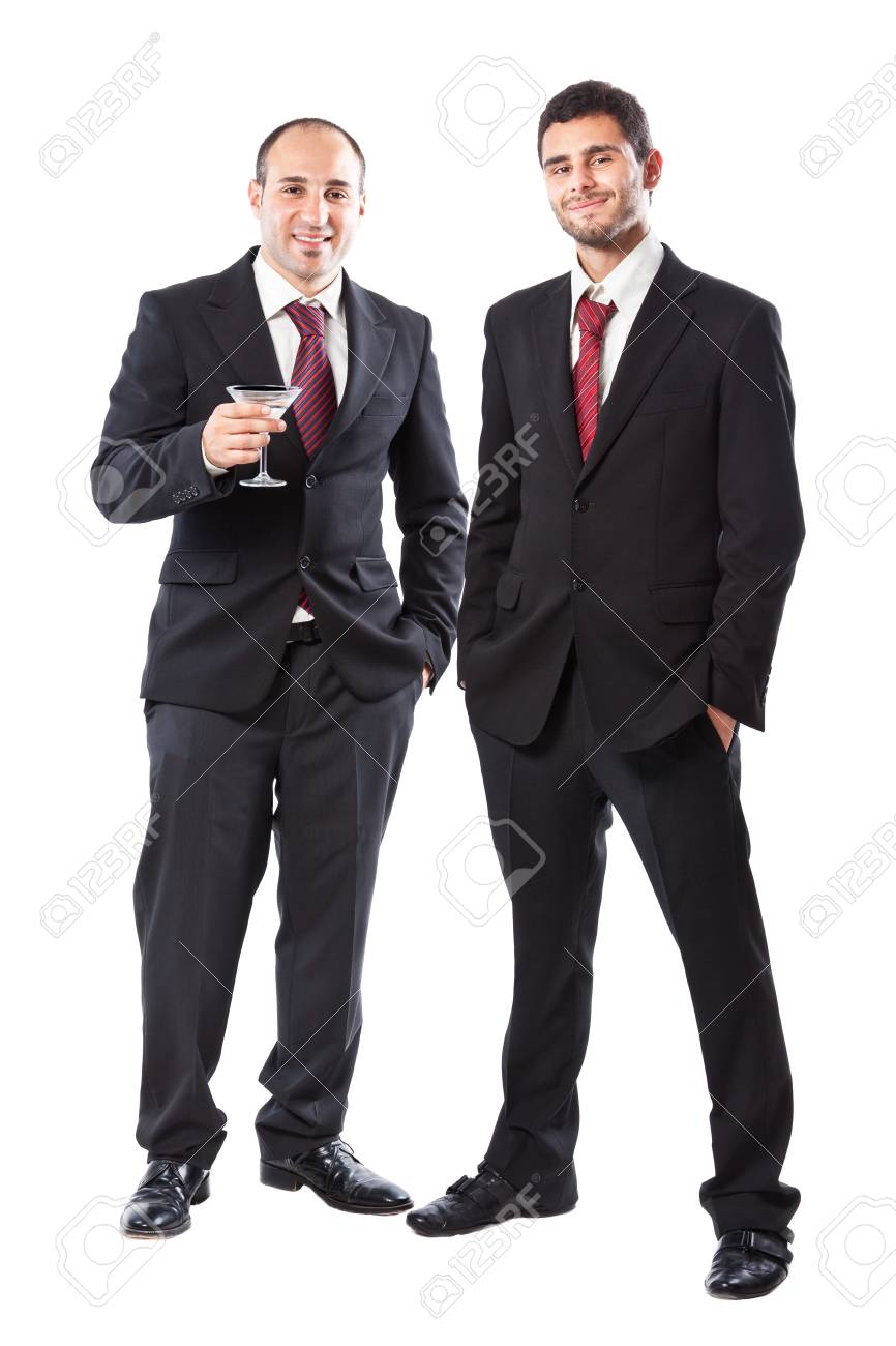 Two Businessman standing on a white background Stock Photo - 20309955