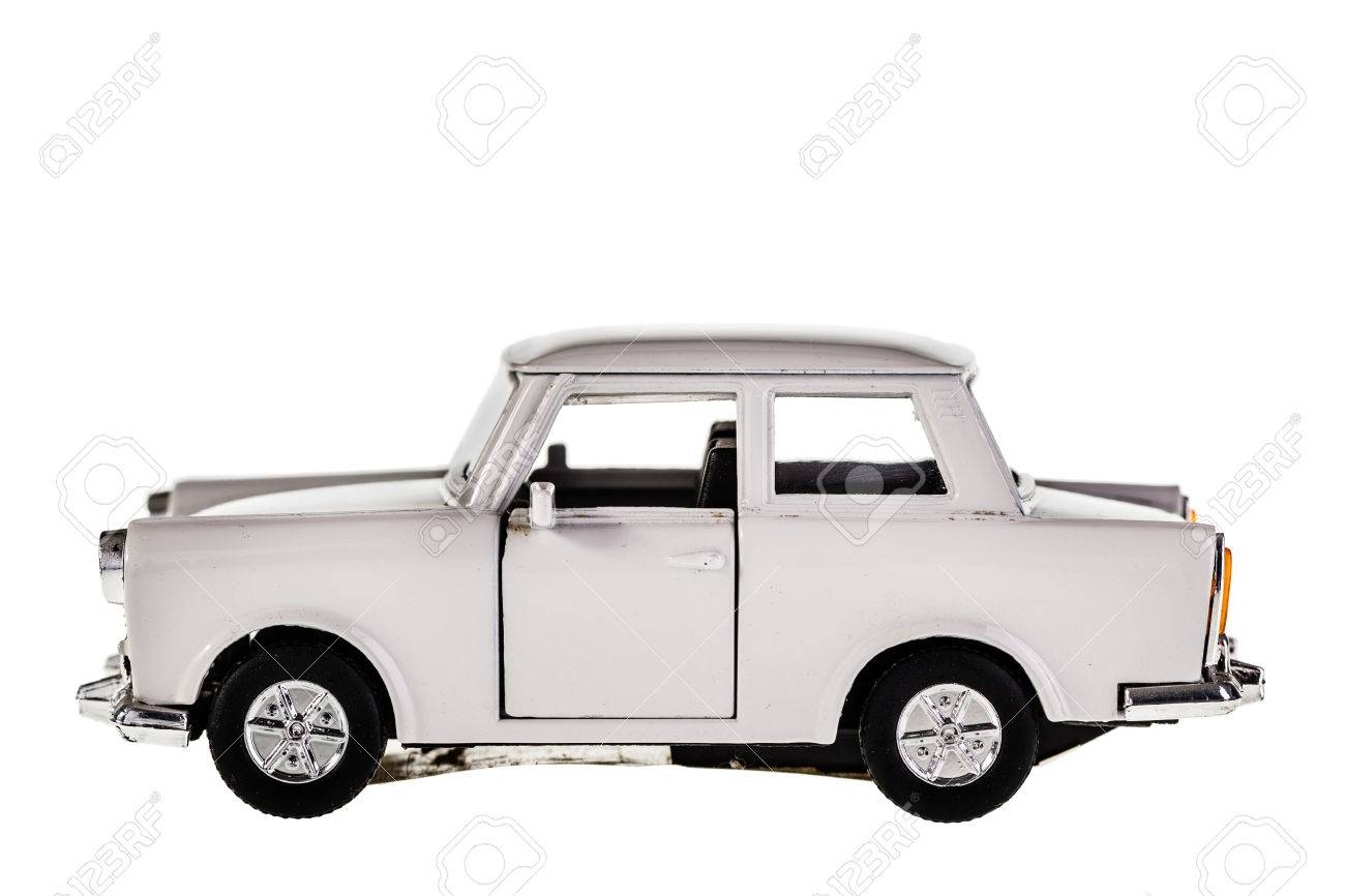 An Old Russian Car Model Isolated Over A White Background Stock ...