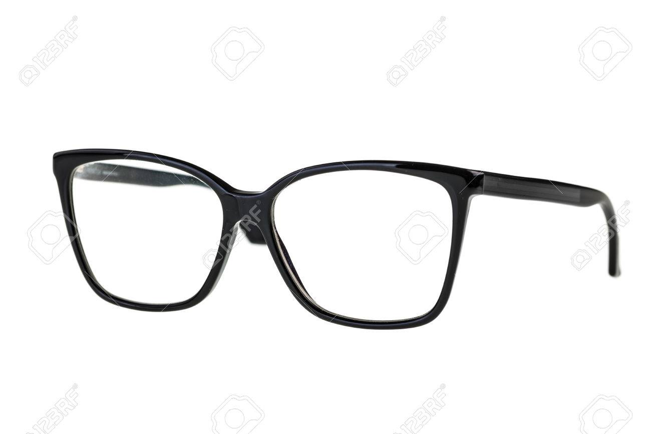 23ffa53c5c7 black nerd or geek eye glasses isolated over a white background Stock Photo  - 33975126