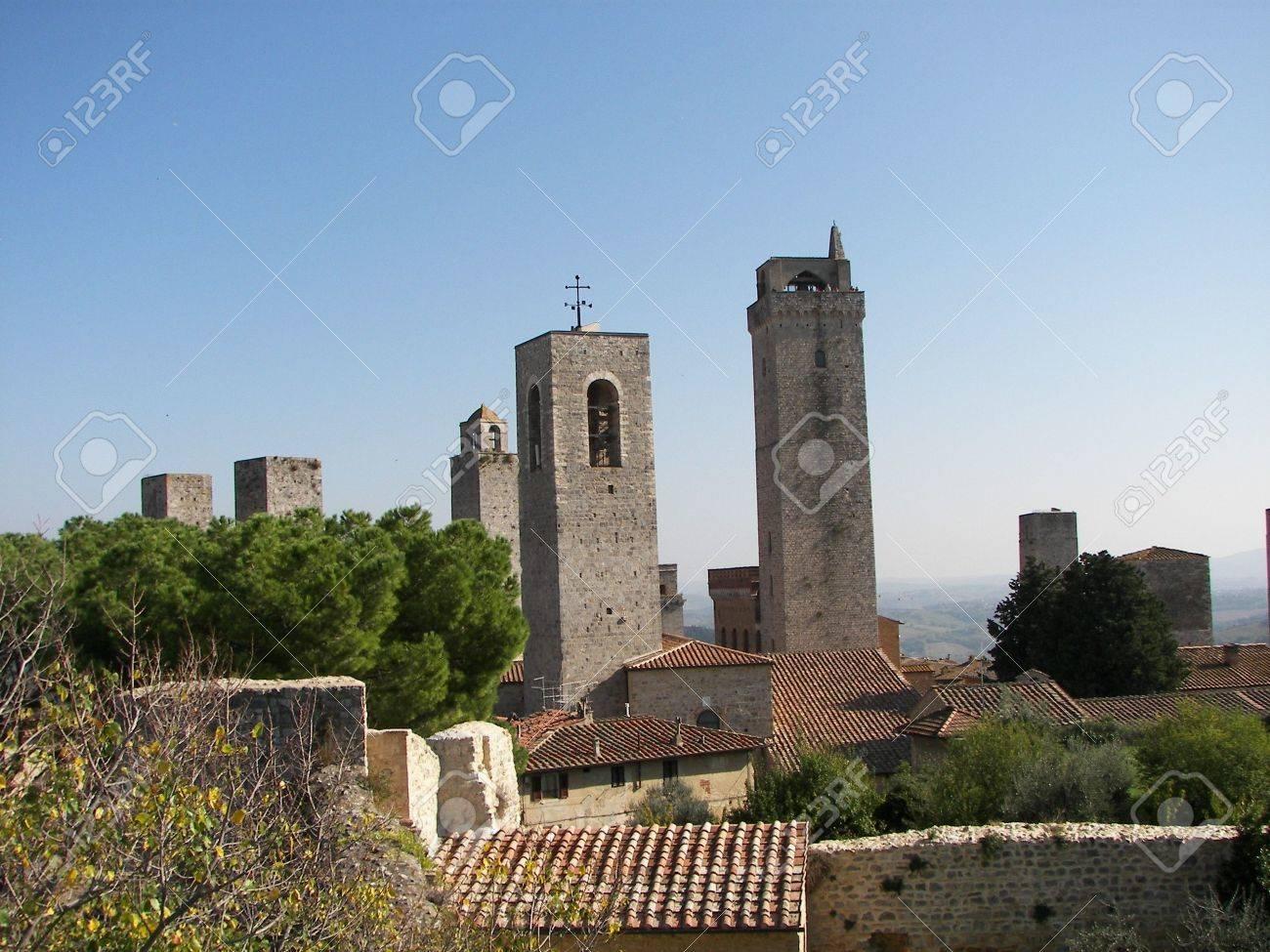 The towers of San Gimignano Tuscany Stock Photo - 3785711