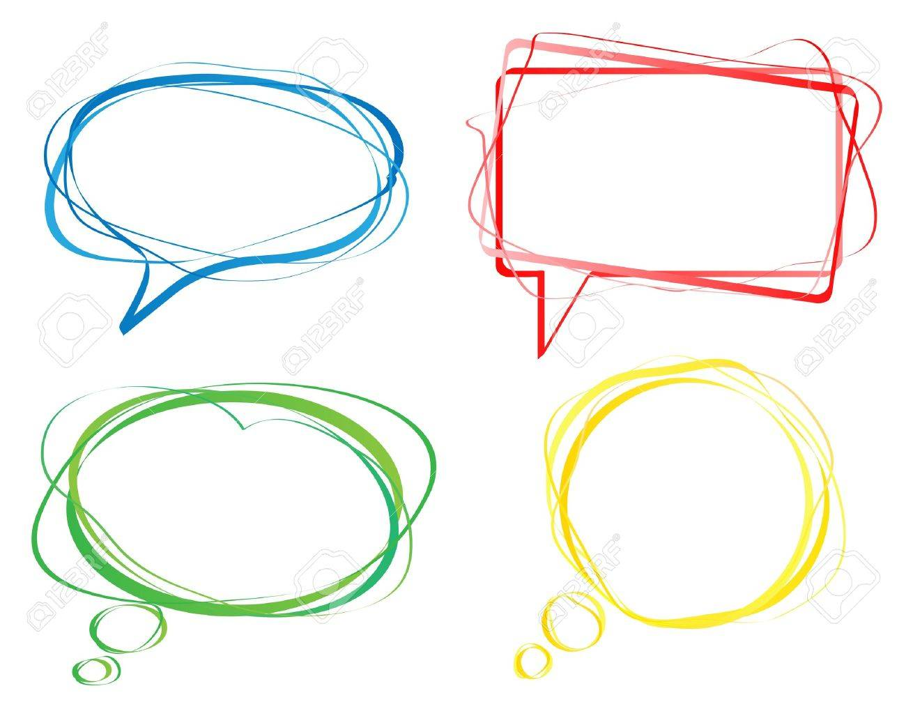 Set of colorful speech bubbles Stock Vector - 13567120