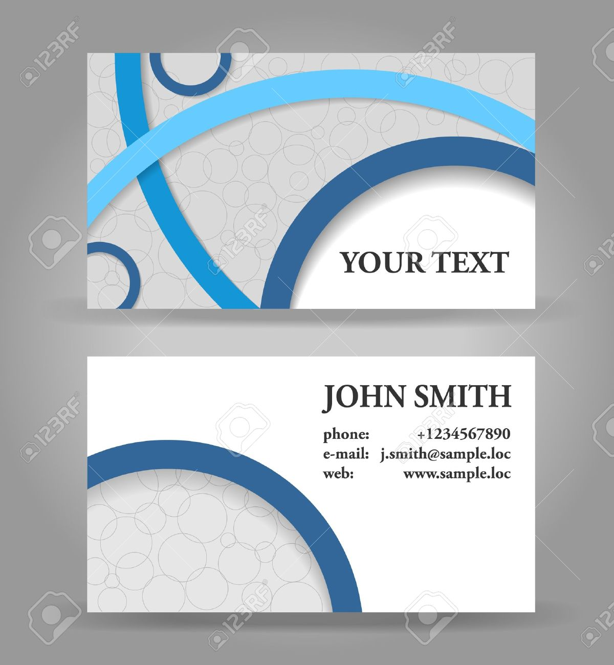 Blue and gray modern business card template royalty free cliparts blue and gray modern business card template stock vector 14585169 cheaphphosting Image collections