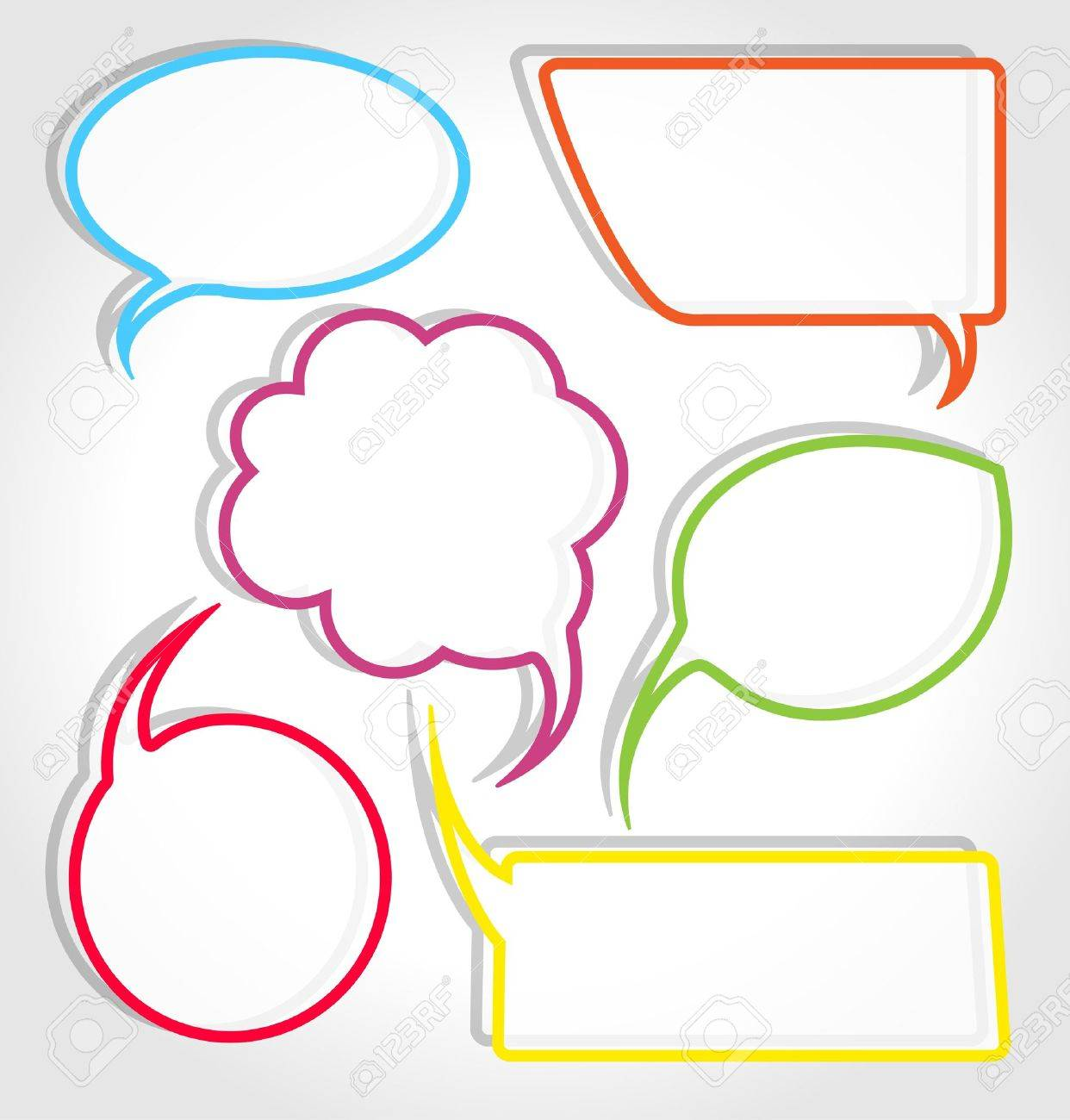 colorful speech bubble frames royalty free cliparts vectors and