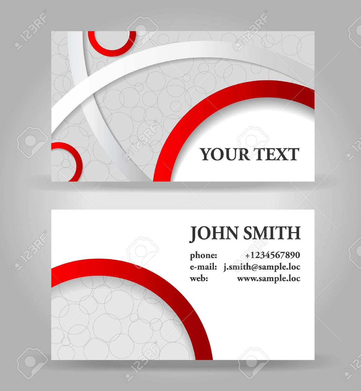 Visiting Cards Images Visiting Card Design Red And