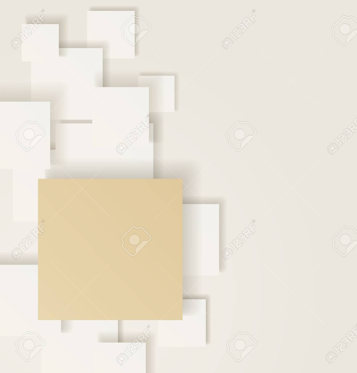 Light overlapping squares  Gold concept Illustration Stock Vector - 17334819