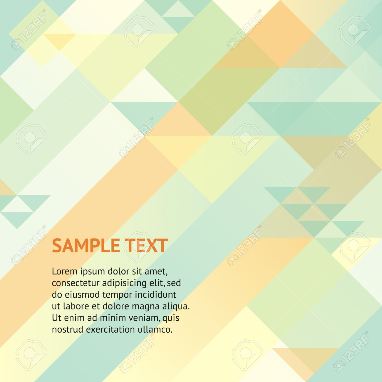 Abstract retro geometric background with triangles and space for your message  Design template for your presentation, brochure and etc Stock Vector - 17577017