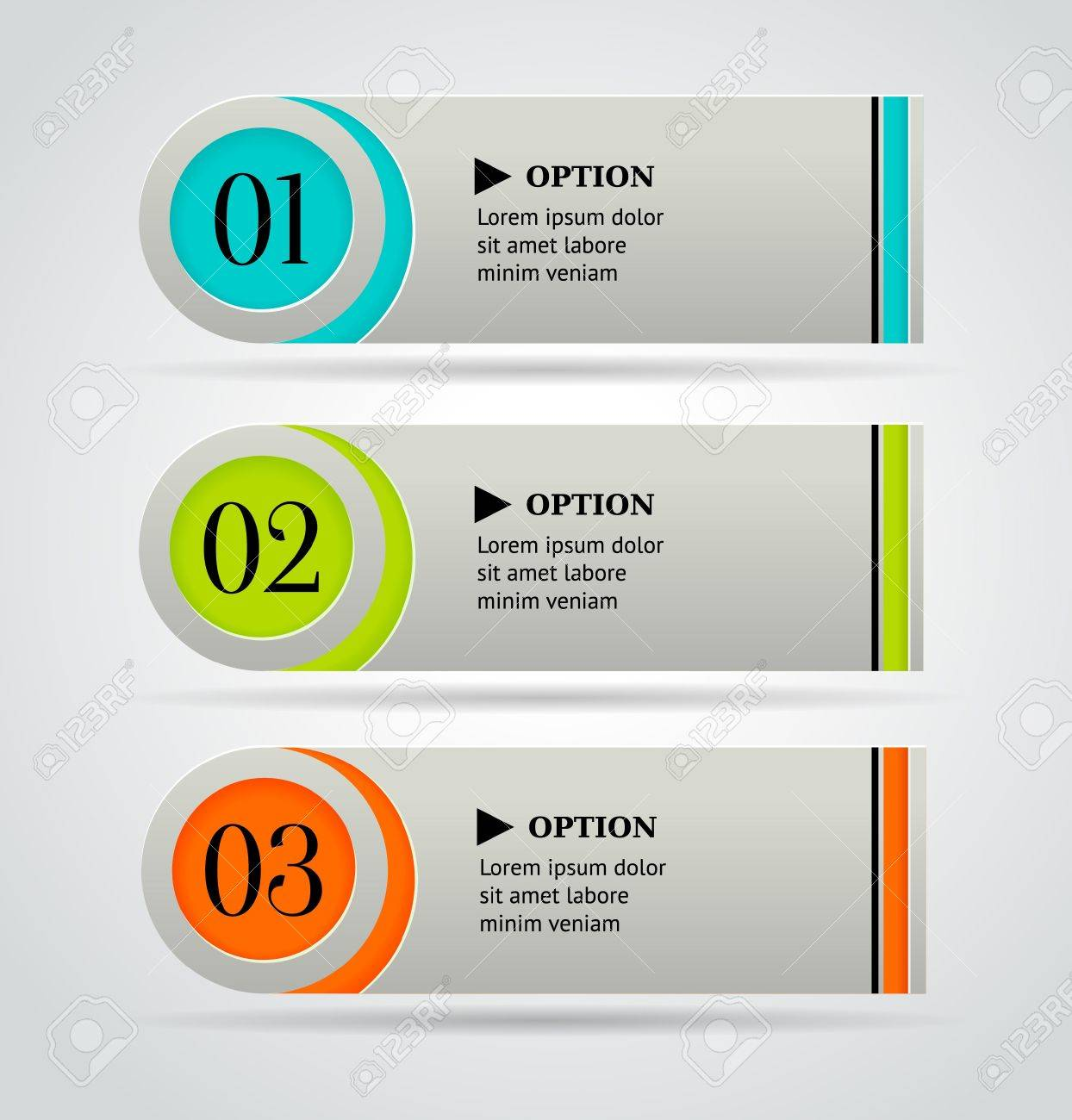Horizontal colorful options banner template   illustration Stock Vector - 17794865