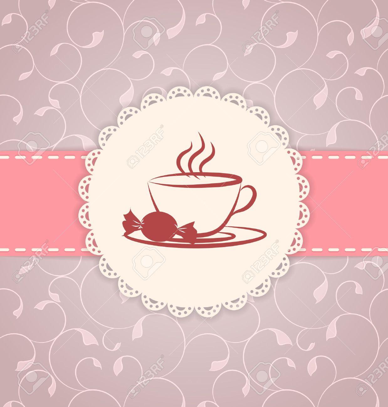 Tea party background royalty free stock photo image 28839215 - Tea Party Background Tea Party Vintage Applique
