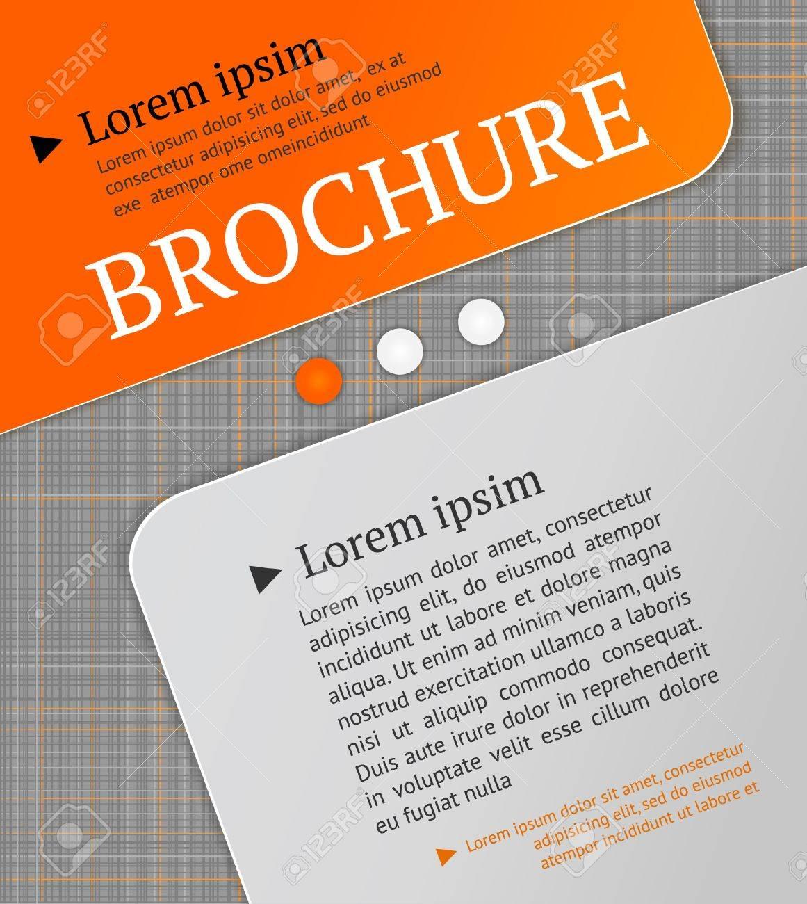 Modern brochure design template  Lined texture - seamless pattern Stock Vector - 19137120