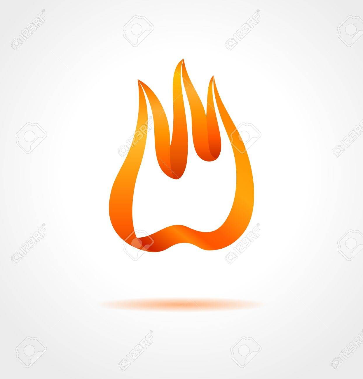 Abstract flame on gray background  Vector creative symbol Stock Vector - 19937628