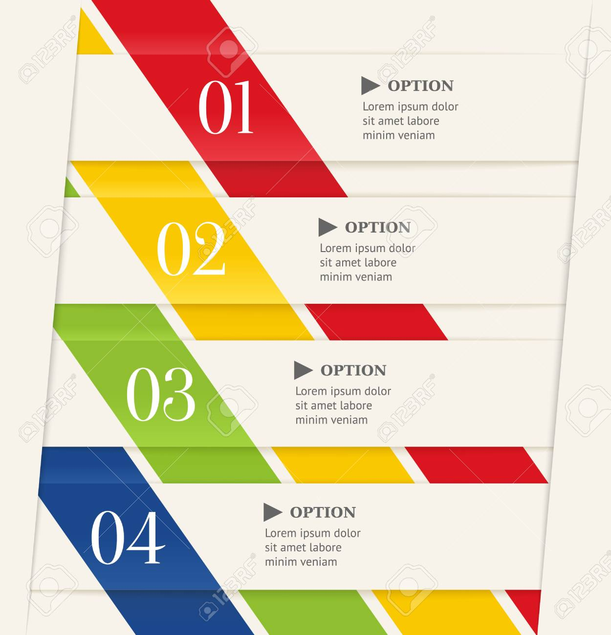 Business steps options banner  Modern origami style Stock Vector - 20456382