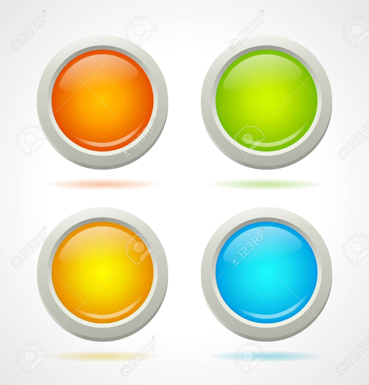 Shine colorful buttons template   illustration Stock Vector - 21324409