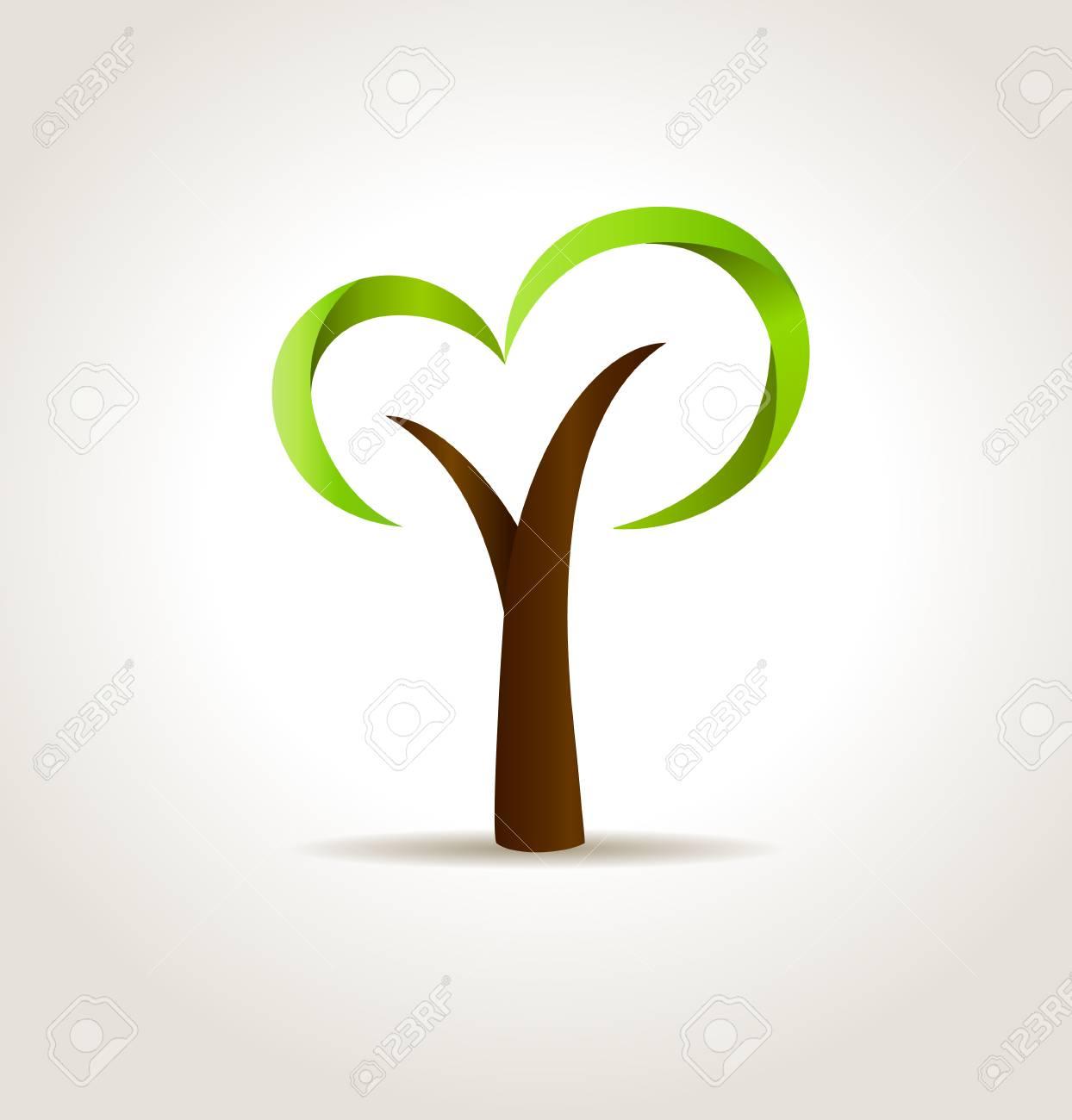 Abstract green tree  eco creative concept Stock Vector - 22679928