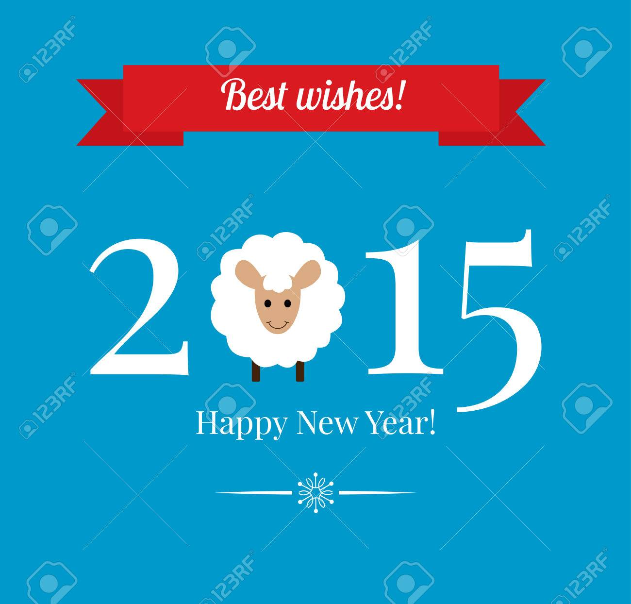 Chinese zodiac 2015 year of sheep or goat flat design style happy new year greetings card or background vector illustration chinese zodiac 2015 year of sheep or goat flat design style kristyandbryce Choice Image