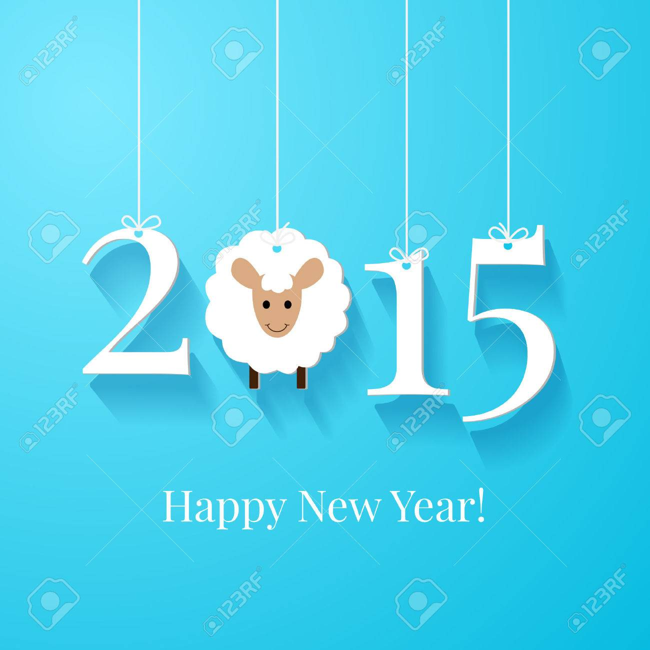 Happy new year greetings card or background white tags with happy new year greetings card or background white tags with 2015 on blue background stock m4hsunfo