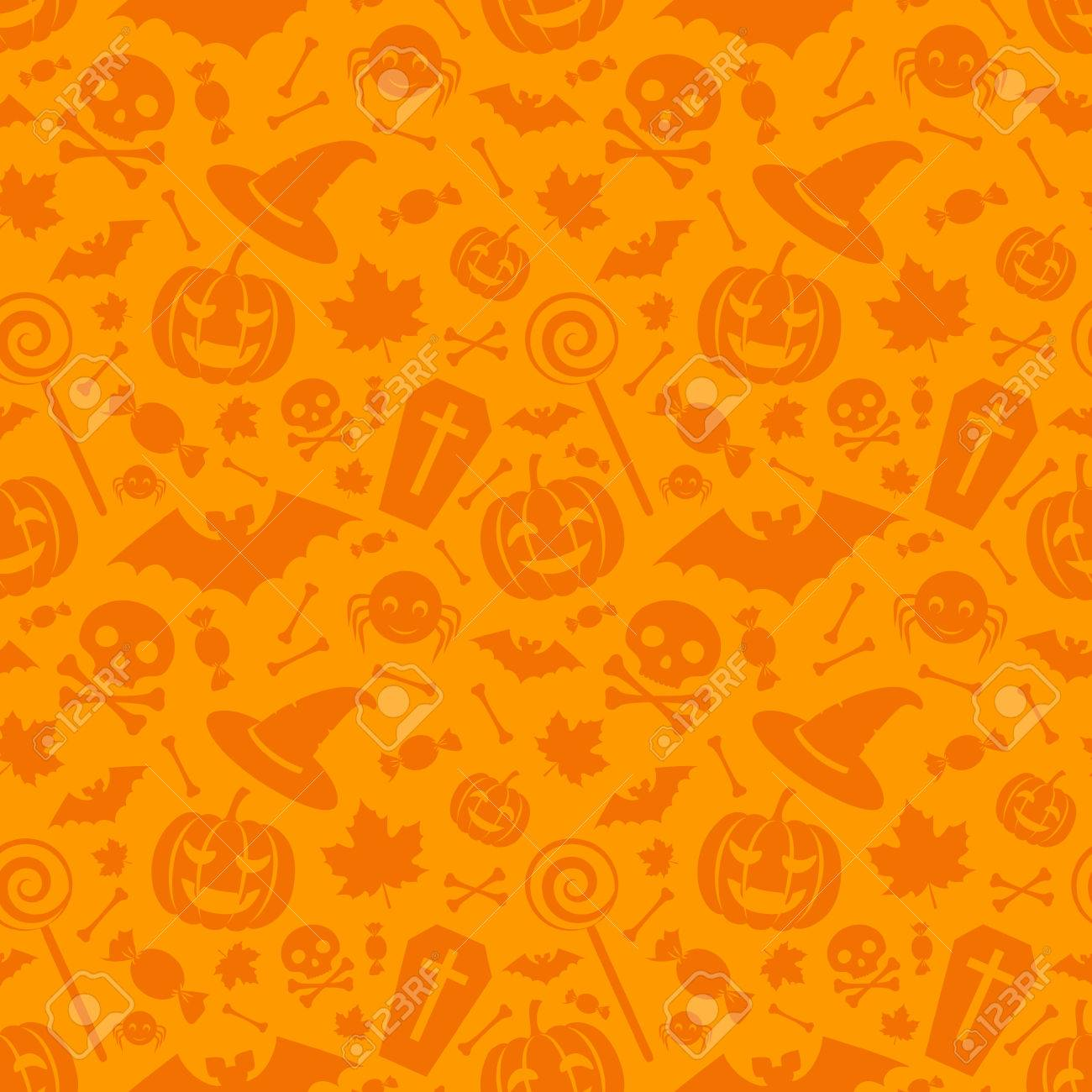 Cool Wallpaper Halloween Gold - 44142017-halloween-orange-festive-seamless-pattern-endless-background-with-pumpkins-skulls-bats-spiders-and-e  Image_4818.jpg