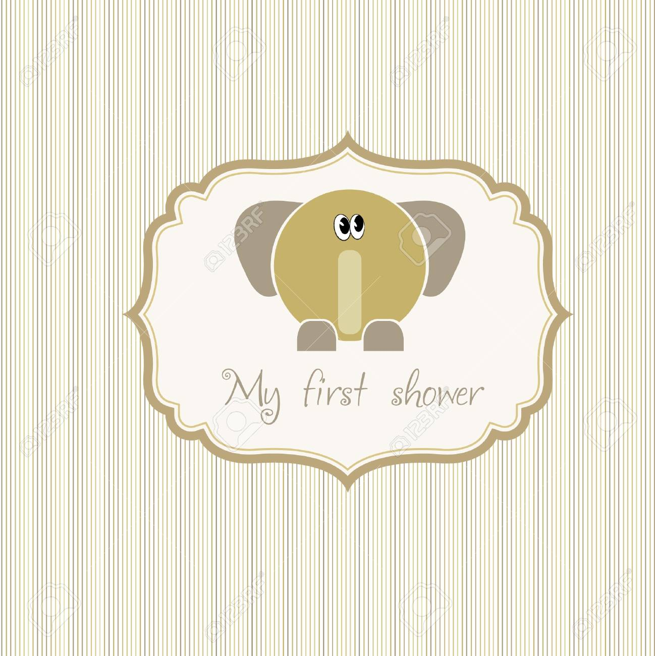 baby shower card with elephant Stock Vector - 9168187