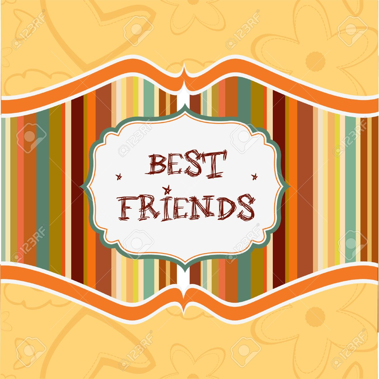 best friends card Stock Vector - 9305545