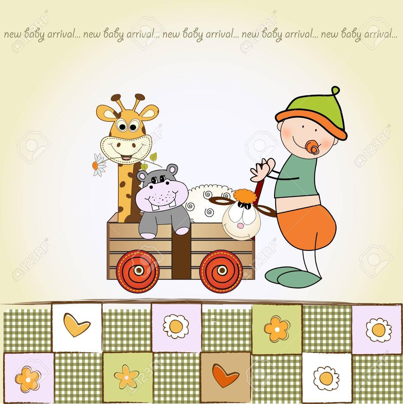 baby anniversary card Stock Vector - 9806223