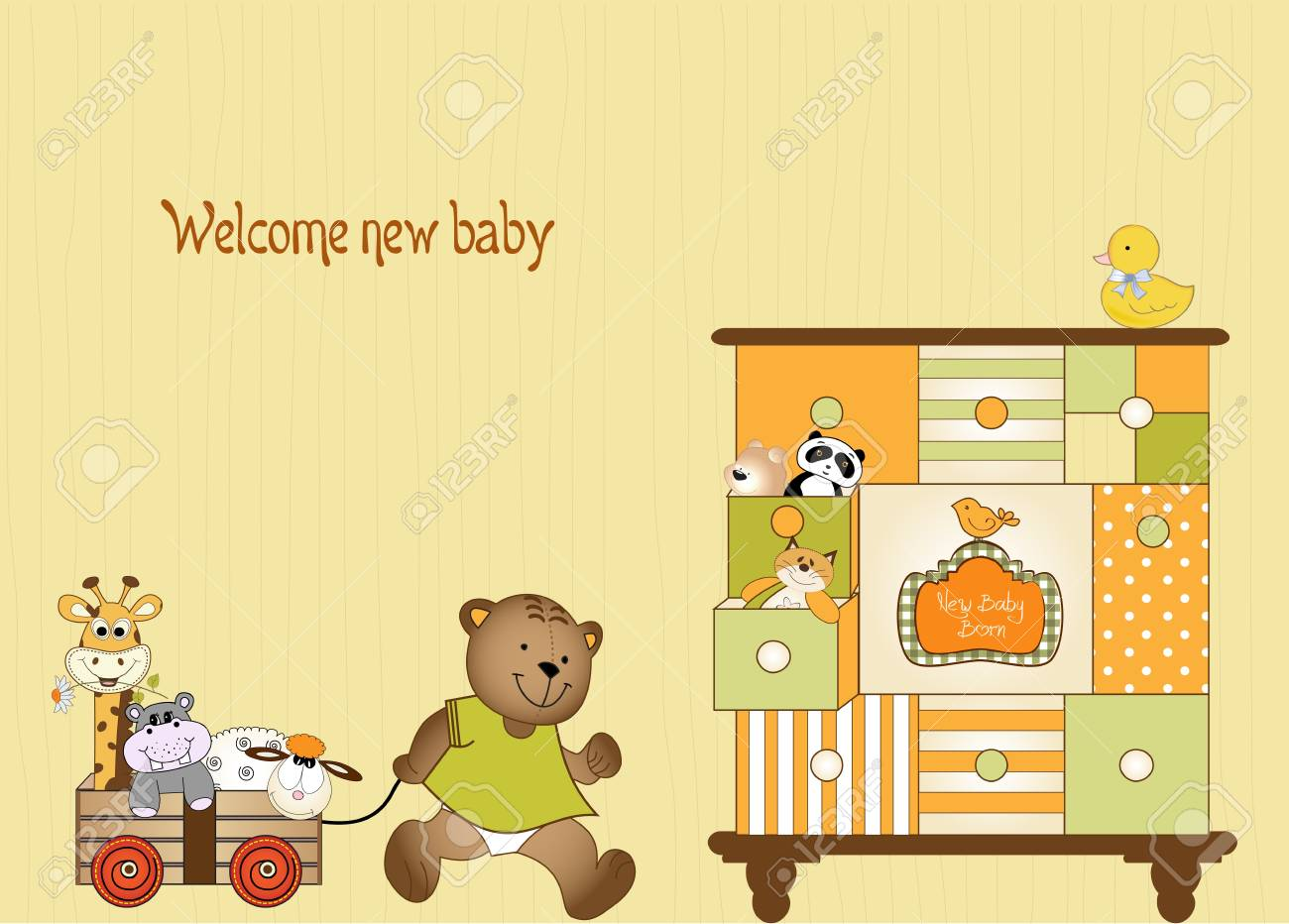 baby shower greeting card Stock Vector - 9806268