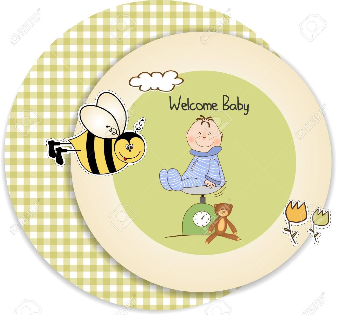baby shower announcement Stock Vector - 9806322