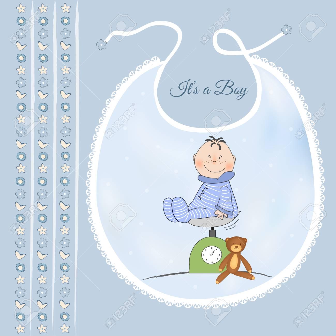 baby shower announcement Stock Vector - 9806303