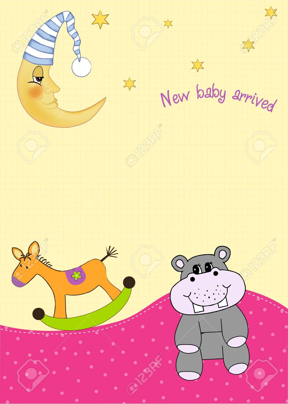 welcome, baby announcement card Stock Vector - 9806685