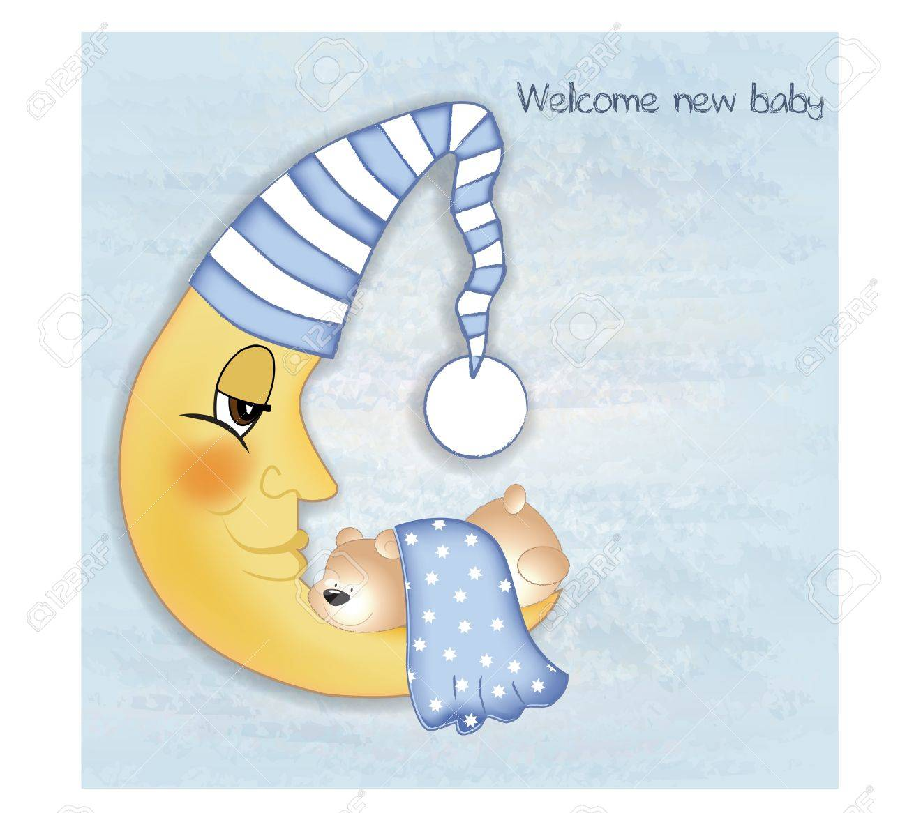 welcome baby greetings card Stock Vector - 9806721