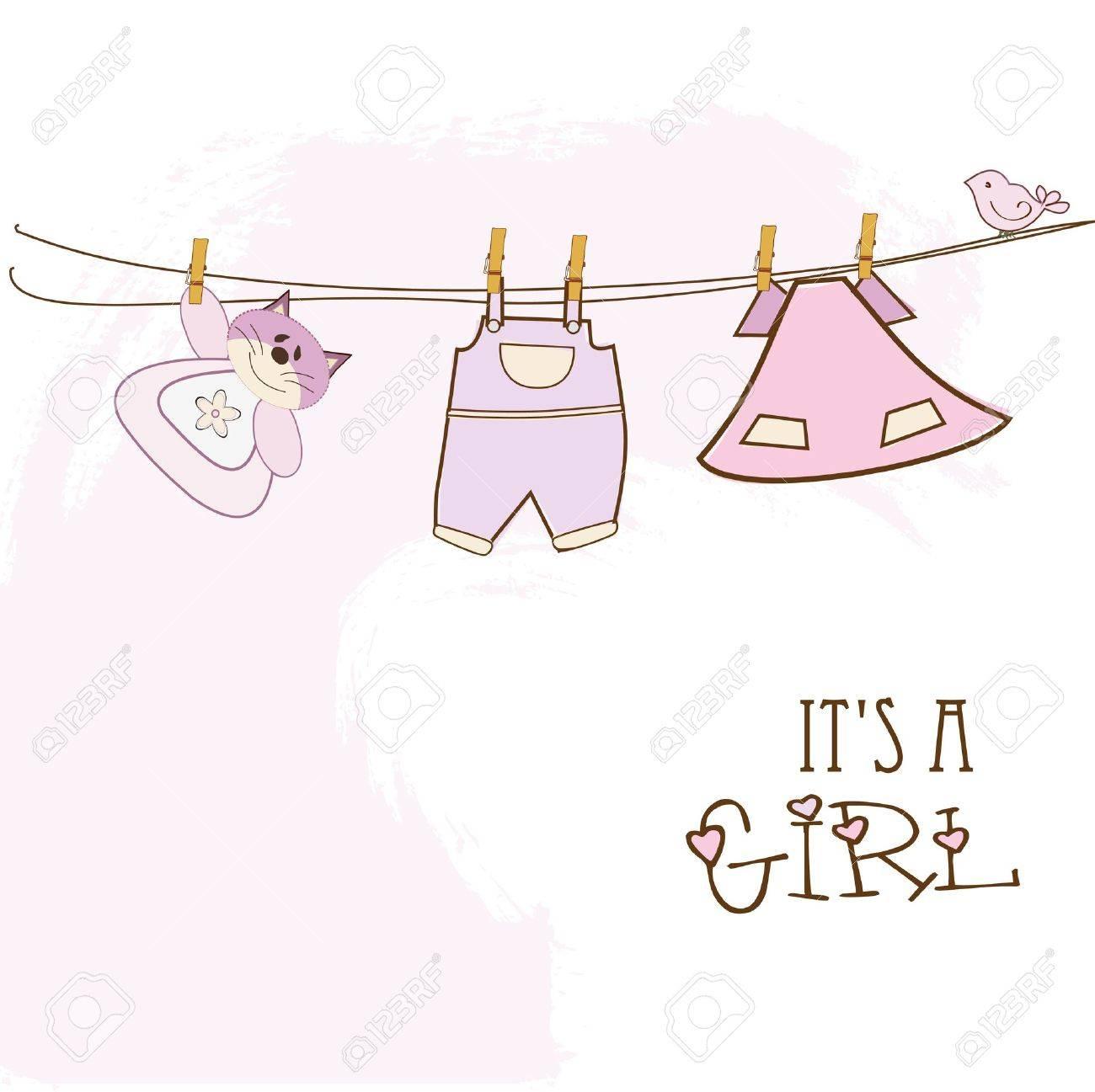 baby shower invitation Stock Vector - 9806528