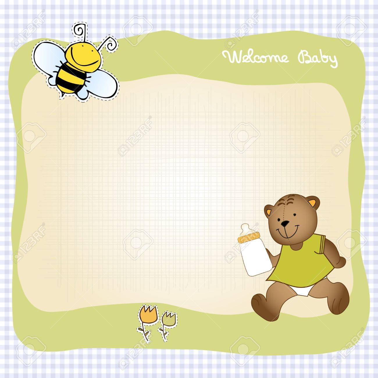 baby shower greeting card Stock Vector - 9806486