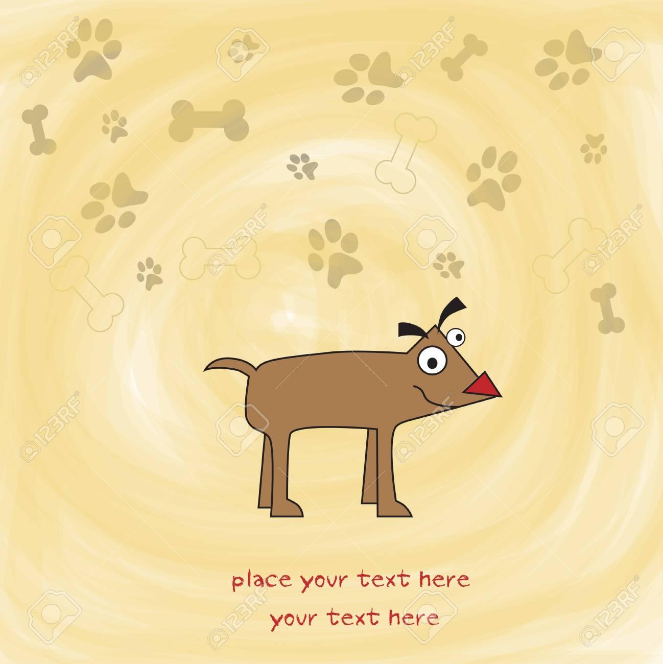 happy little cute dog Stock Vector - 9934450