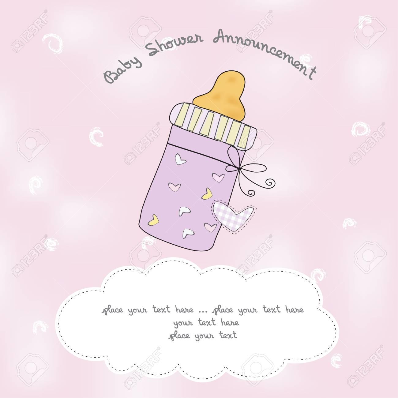 baby shower announcement Stock Vector - 9934387